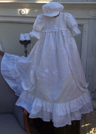 Victorian Style Heirloom Christening Gown By Elena Couture | Handmade Christening Gown