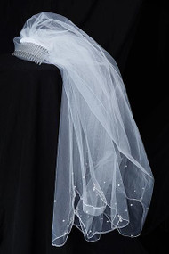 1st Communion Veil For Girl | Communion Veil With Pearl
