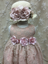 Infant Blush Lace Dress | Baby Party Dress | Baby Dress