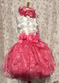 Couture Pink Lace Tutu | Lace Tutu Dress For Toddler