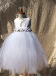Couture White Tutu Dress For Toddler | Birthday Tutu Dress For Girl