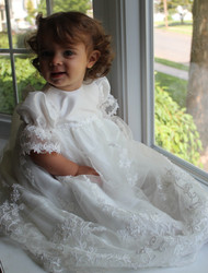 Macis Lace Heirloom Christening Gown | Baby Christening Dress