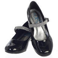 Mia Dress Shoes For Flower Girl   Girls Dressy Shoes With Rhinestone