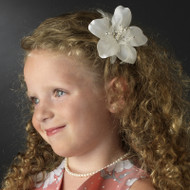 Flower Feather Hairpiece For Girls | Girls Floral Hair Accessory