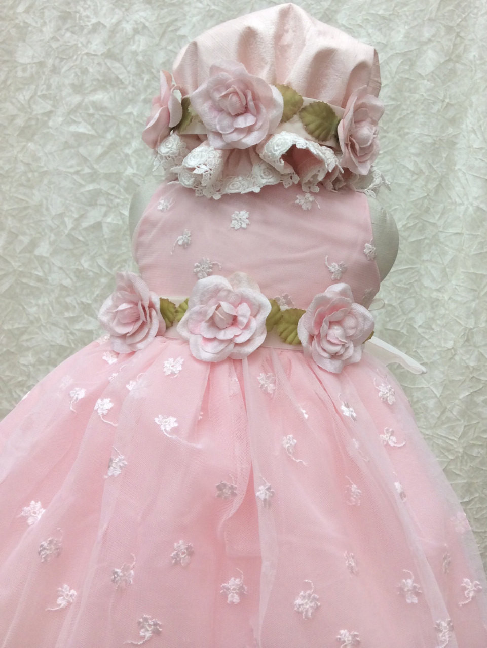 Couture Pink Lace Baby Girl Dress  Infant Special Occasion Dress