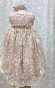 Couture Baby Special Occasion Dress | Vintage Lace Baby Dress