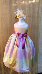 Girls Silk Party Dress | Easter Dress For  Toddler Girls