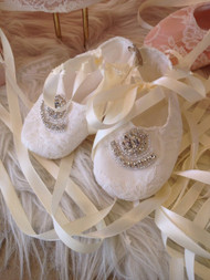 Beautiful Couture Christening Baby Shoes | Girls Vintage Baptism Shoes