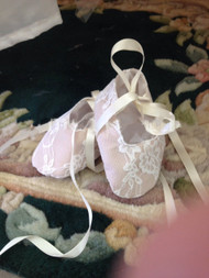 Victorian Baby Lace Shoes | Christening Lace Shoes For Baby Girl