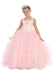 Pageant Gown For Little Girls | Long Pageant Dress For Girls