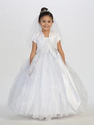 Taffeta Communion Dress | White 1st Communion Dress