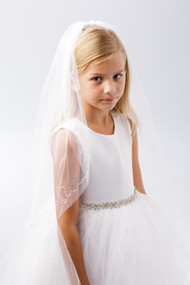 Girls Veil | White Communion Veil For Girls | First Communion Veil