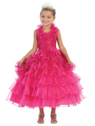 Beautiful Pageant Dress For Little Girls | Girl Tea Length Pageant Dress