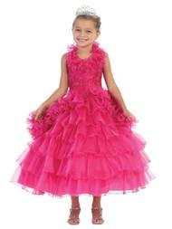 Beautiful Pageant Dress For Little Girls | Girl Tea Length Pageant Dress