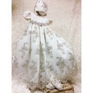 Couture Baptism Gown For Girls | Lace Christening Heirloom Gown