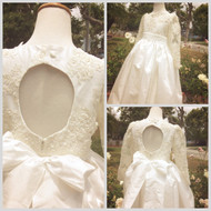 Girls Couture Communion Dress   Couture Flower Girl Dress