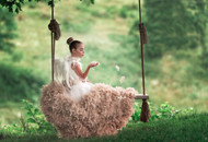 Girls Special Occasion Feather Dress