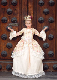 Couture Princess Victorian Gown For Girls | Kids Formal Floral Ball Gown