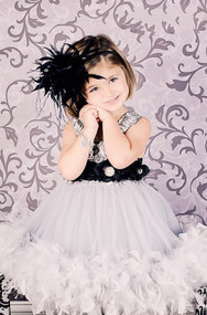 Girls Couture Special Occasion Dress | Princess Feather Dress