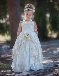 Elegant Girls Couture Ball Gown | Wedding Flower Girl Gown