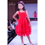 Girls Red Party Dress | Red Dress For Girls | Girl Special Occasion Dress