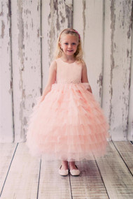 Affordable Little Girls Party Dress | Wedding Flower Girl Pageant Dress