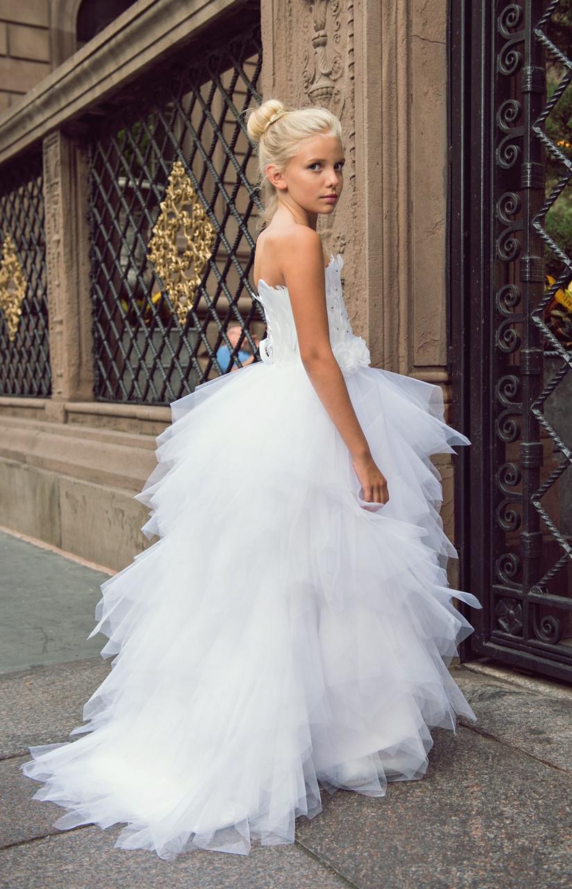 838cd17d865 Couture Princess Wedding Flower Girl Dress