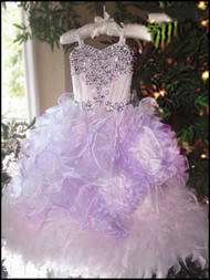 Girls Couture Pageant Gown | Princess Ruffled Pageant Gown