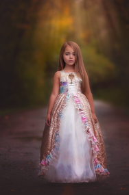 Sequin Ball Gown For Girls | Little Girls Princess Couture Gown