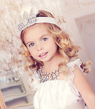 Princess Couture Crystal Crown For Girls | Kids Party Crystal Crown
