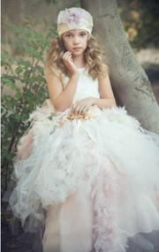 Couture Wedding Flower Girl Tutu Dress   Princess Couture Girls Tutu