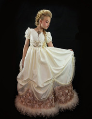 Girls Stunning Princess Couture Wedding Victorian Ball Gown