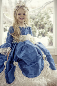 Princess Couture Victorian Girls Ball Gown | Girls Wedding Party Dress