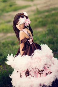Couture Princess Formal Gown | Girls Belle Of The Ball Feathered Gown