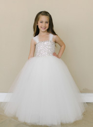 Beaded First Communion Dress | Amalee Couture Ivory Communion Gown