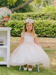 Wedding Flower Girl Dress | Little Girls Communion Flower Girl Dress