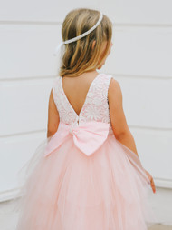 Pink Flower Girl Party Dress | Special Occasion Communion Dress