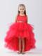 Red Ruffle Tulle Hi Lo Dress For Girls | Flower Girl Tulle Dress