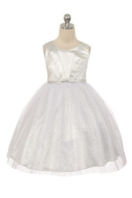 Sparkle Tulle Flower Girl Dress | Glitter Party Dress For Girls