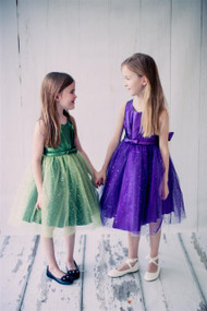 Sparkle Tulle Flower Girl Dress  And Glitter Party Dress For Girls