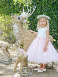 Wedding Party Flower Girl Dress | Girls Special Occasion Tulle Dress
