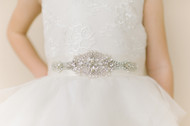 Swarovski Crystal Belt For Communion Dress | Flower Girl Crystal Belt
