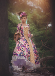 Girls Couture Floral Ball Gown | Taffeta Print Ball Gown For Girls