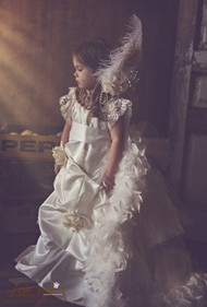 Beautiful Couture Wedding Flower Girl Communion Gown For Girls