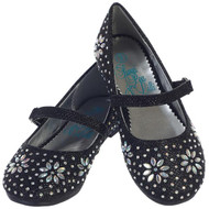 Girls Sparkling Glitter Dress Shoes | Little Girls Black Shoes