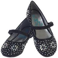 Girls Sparkling Glitter Dress Shoes   Little Girls Black Shoes