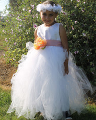 Wedding Party Couture Flower Girl Tutu Dress | Couture Girls Tutu