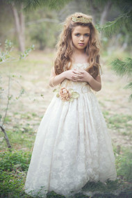 Silk Couture Flower Girl Dress | Girls Special Occasion Couture Dress