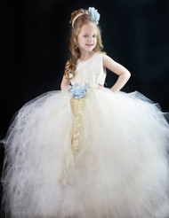 Girls Couture Tutu Dress | Birthday Tutu | Couture Flower Girl Tutu Dress