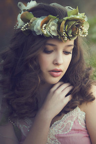 Couture Flower Halo For Girls | Couture Wedding Flower Girl Crown